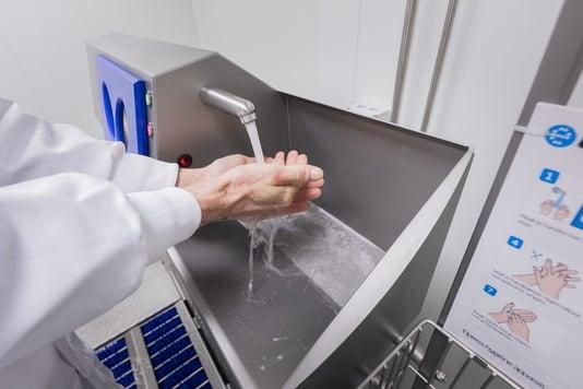 Hande waschen und desinfektion