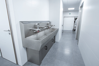 wash basins with hand dryer