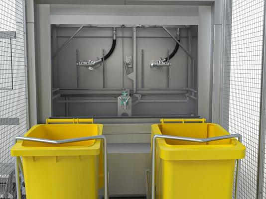 Myjka do pojemników na odpady