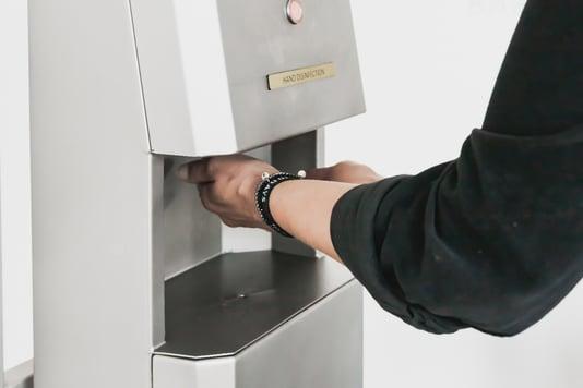 Elpress hand disinfection